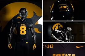 Heres Your Iowa Hawkeye Blackout Uniforms For Tonight