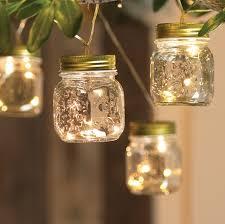 Mason jars on light strand