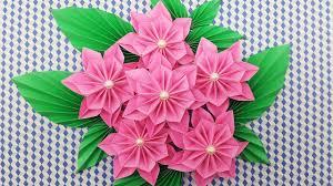 Paper Flower Bouquet Tutorial 68 Making Origami Flower Bouquet 2019