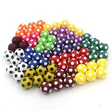 Mini Soccer Ball Decorations Classy 32pcs 32MM Resco Table Soccer Ball Mini Soccer Colorful Tables Games