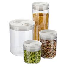Kitchen Storage Canisters Click Clack Pantry Canisters The Container Store