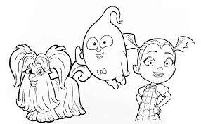 Vampirina Family Coloring Pages To Printable Coloring Book Online