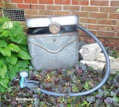 garden hose storage ideas. Garden Hose Container With Lid Pot Over Time The Galvanized Tub Will Weather A . Holder Storage Ideas