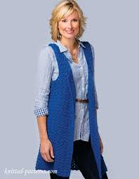 Free Knitted Vest Patterns Enchanting Women's Sleeveless Jacket Crochet Pattern Free