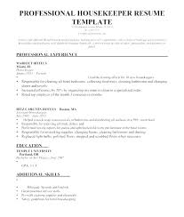Sample Resume For Hospital Housekeeping Job