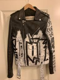 boda skins leather jacket mens hand painted