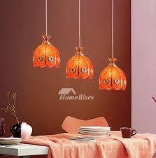 3 light pendant creative orange pink
