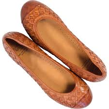 kate dip dyed er brown woven leather ballerina flats thumb 2