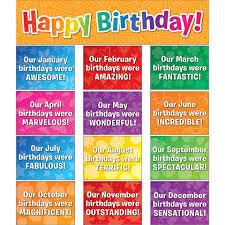 Celebrating Birthdays Space Saver Pocket Chart