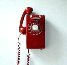 wall phones telephone mural retro red wall phone working rotary dial mount by on mounted cordless wall phones