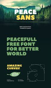 Free Typefaces For Designers Free Font Friday Peace Sans By Sergey Ryadovoy Free Fonts