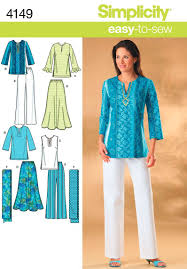 Tunic Sewing Pattern Magnificent Amazon Simplicity EasytoSew Pattern 48 Womens Skirt Pants