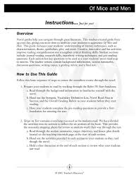 Of Mice and Men Novel Guide Book, English: Teacher's Discovery