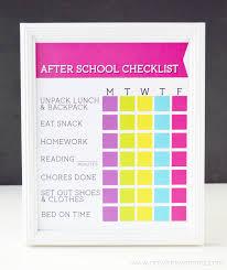 free printable charts and checklists. Free Printable After School Checklist At Artsyfartsymama.com Charts And Checklists
