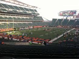 Paul Brown Stadium Section 120 Home Of Cincinnati Bengals