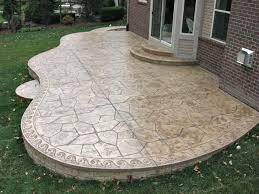 do these concrete patio designs make