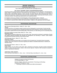 Early Childhood Education Resume Template - Tier.brianhenry.co
