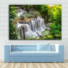 waterfall wall art canvas art wall painting waterfall and sunshine wall art picture for living room on waterfall metal wall art with waterfall wall art andbeauty me