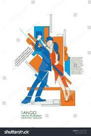Tango Graphic Design Tango Dancers Geometrical Style Abstract Geometric Stock
