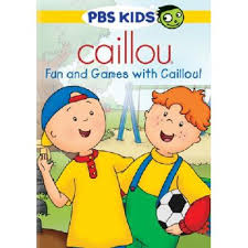 caillou fun games with caillou dvd