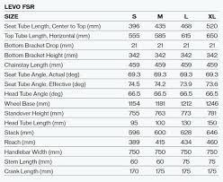 Specialized Rockhopper Mountain Bike Frame Size Chart