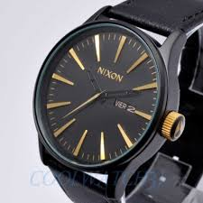 nixon a105 1041 a1051041 watch mens the sentry leather matte black nixon a105 1041 a1051041 watch mens the sentry leather matte black gold ems new what s it worth