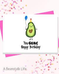 Avocado Free Birthday Cards Printable