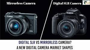 Buy Digital SLR Vs Mirrorless Camera? A New Digital Camera Market Shapes at  UK's Best Price