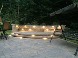 Raised paver patio Concrete Under Cap Lights On Raised Paver Patio Pinterest Landscape Lights Under Cap Lights On Raised Paver Patio