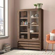 bookcase with glass doors you ll love