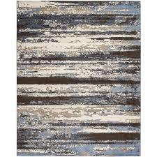 safavieh retro kingston cream blue indoor distressed area rug common 12 x 18 actual 12 ft w x 18 ft l