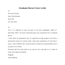 Nursing Student Cover Letters Letter For Resume Recent Grad 6