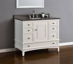 white single bathroom vanity. Cambridge 42\u2033 White Single Sink Vanity Bathroom E