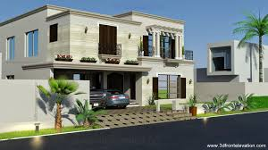 Small Picture 3D Front Elevationcom 1 Kanal Spanish House Design PLan DHA