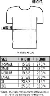 Custom Size Chart Size Chart American Apparel 50 25 25 T Shirts Coed Monkey