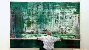 gerhard richter working on abstract painting 911 4