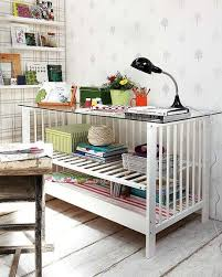how to repurpose furniture. Diy Home Office Furniture Ideas Upcycle Baby Cot Reuse Desk Glass Top How To Repurpose U