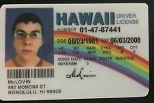 Drivers Id Prop License Movie Ebay Mclovin For Sale Card Hawaii Novelty Fogels Fake Superbad Online