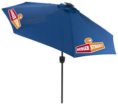 Blue Patio Umbrella With Lights 9 Patio Umbrella 3 Color Printing Led Lights Bluetooth