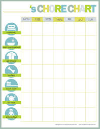 Use These Customizable Printable Chore Charts To Keep Up