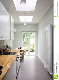 Bright Kitchen Modern Bright Kitchen Galley Style Royalty Free Stock Photography