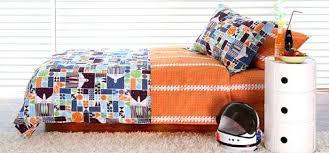 Boys Orange Bedding Decoration Toddler Blanket Set Outdoor Kids