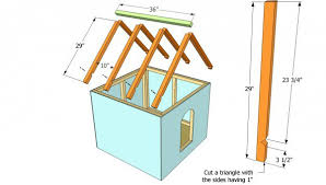 Simple Dog House Plans   MyOutdoorPlans   Free Woodworking Plans    Installing the roof of the dog house