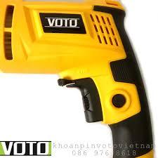 Máy khoan, máy bắt vít điện cầm tay Voto nhỏ gọnTặng mũi khoan (màu vàng) - Máy  khoan Nhãn hàng No brand
