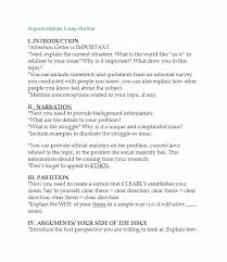Example Of An Argumentative Essay Outline Dew Drops