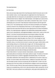 good introduction essay great depression the great depression essay examples kibin