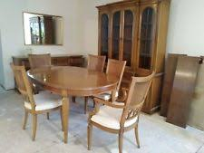 thomasville dining room set with 6 chairs china closet buffet