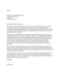 professional teacher cover letter physical education teacher cover letter sample