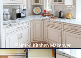 painting cabinets white before and afterPainted Cabinets Nashville Tn Before And After Photos Throughout