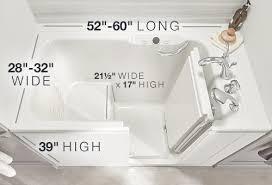 walk in bath dimensions